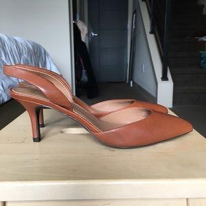 Elie Tahari cognac slingback heels, size 8